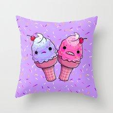 Super Emotional Icecream Throw Pillow
