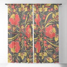 Russian khokhloma Sheer Curtain