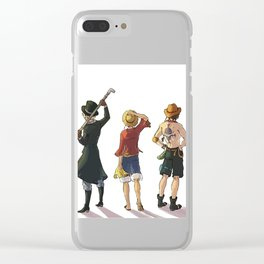 Sabo, Rufy, Ace Clear iPhone Case