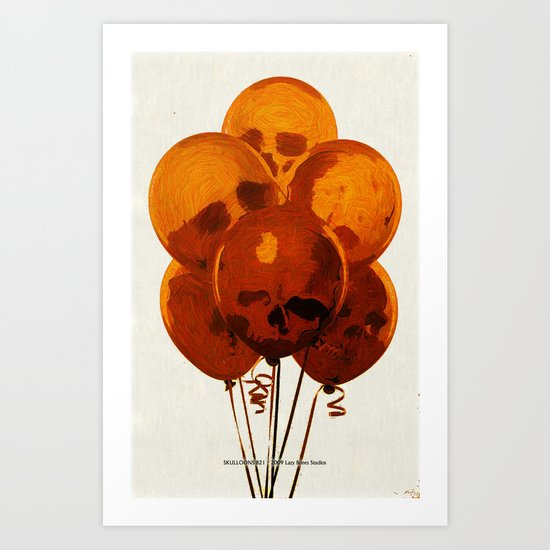 SKULLOONS B21 Art Print
