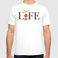 One Life Mens Fitted Tee White MEDIUM