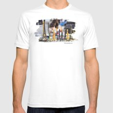 towers Mens Fitted Tee MEDIUM White