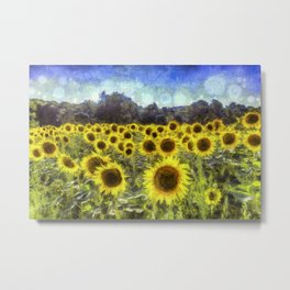Sunflower Fields Of Dreams Art Metal Print
