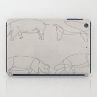 pigs iPad Cases featuring Pigs by Melissa Roberts