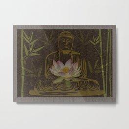 Jewel in the Lotus Metal Print