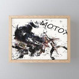 Motox Racer Framed Mini Art Print