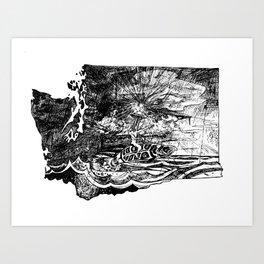 Seattlite in Washington Art Print