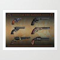 old handgun Art Print