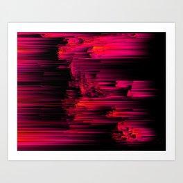 Burnout - Glitch Abstract Pixel Art Art Print
