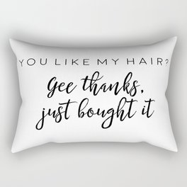 Ariana G. Poster, 7 Rings, Teen Room Poster, Hair Quote, Gift For Her Rectangular Pillow