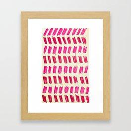 Pink Lines Framed Art Print