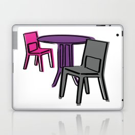 Table & Chairs 01 Laptop & iPad Skin