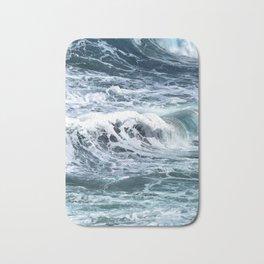 Blue Sea Ocean Waves Bath Mat