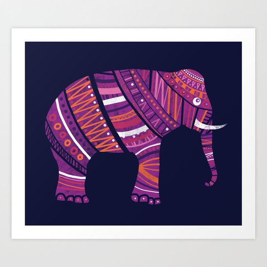 Indian elephant  Art Print