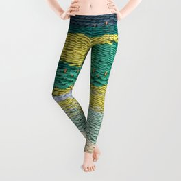 Green Weaving Leggings