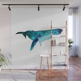 Happy Whale Wall Mural