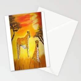 Tigers Sun Stationery Cards
