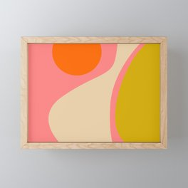 abstract composition modern blush pink Framed Mini Art Print