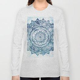BLUE JEWEL MANDALA Long Sleeve T-shirt