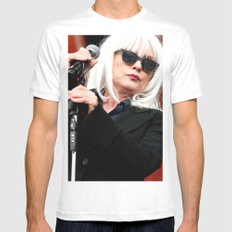 Blondie MEDIUM White Mens Fitted Tee