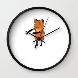 Floss Dance Move Fox Wall Clock