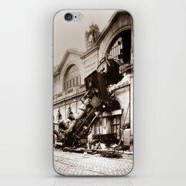 Train Derailment At Montparnasse Station - 1895 iPhone Skin