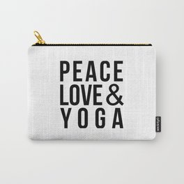 Peace Love & Yoga Carry-All Pouch