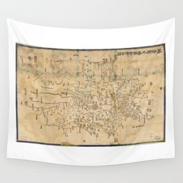 Map of Anxi and Qinghai Outside of Jiayuguan, China (1864) Wall Tapestry
