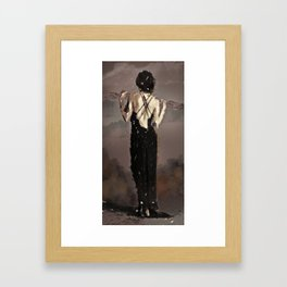 Back in Black Framed Art Print