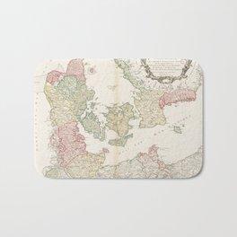 Vintage Map of Denmark (1750) Bath Mat