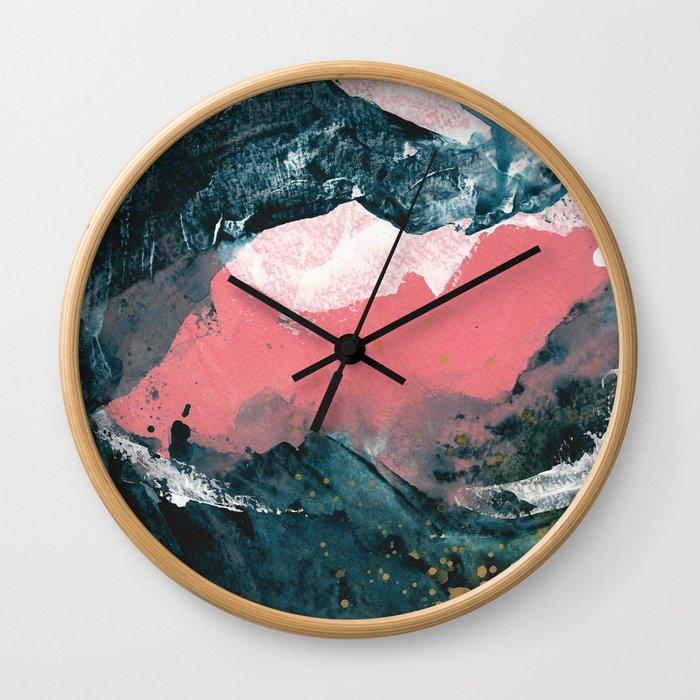 upside down town Wall Clock