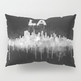 Los Angeles City Skyline HQ v5 WB Pillow Sham