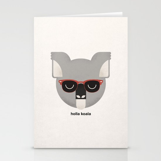Holla Koala Stationery Cards