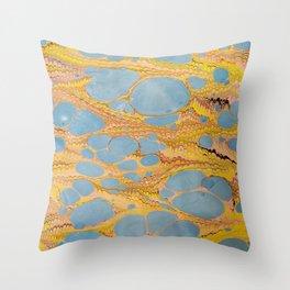 Fantasy Water Marbling Throw Pillow
