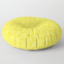 d20 Icosahedron Honeycomb Floor Pillow
