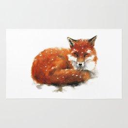 Sleeping Red Fox Rug