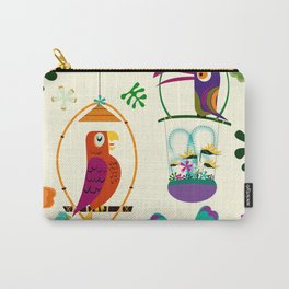 Vintage Modern Tiki Birds Carry-All Pouch