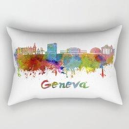 Geneva skyline in watercolor Rectangular Pillow