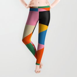 Geometric abstraction in colorful shapes   Leggings