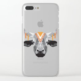 Boho poly cow Clear iPhone Case