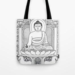 Buddha 02 Black & White Tote Bag