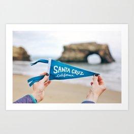 Santa Cruz Pride Art Print