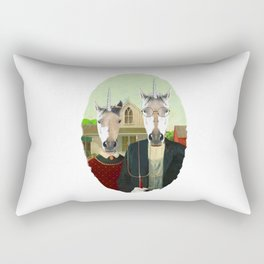 American Gothic Unicorn Rectangular Pillow