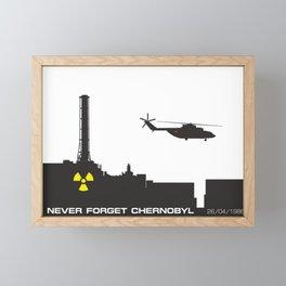 Never forget Chernobyl tragedy Framed Mini Art Print