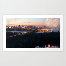 City Day closing, 121 years to Novosibirsk Art Print