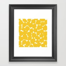 Apple Leaf: Yellow Framed Art Print