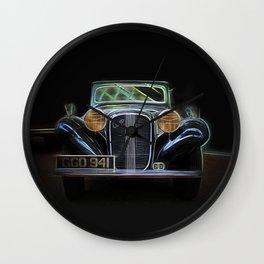 Fractal car vintage car4 Wall Clock