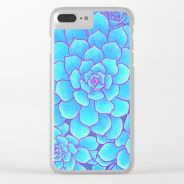 An Ocean of Succulents Clear iPhone Case