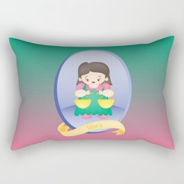Libra Child Zodiac Sign Illustration Rectangular Pillow
