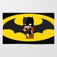 batgirl Area & Throw Rugs featuring Chibi Batgirl by artwaste